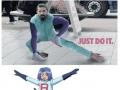 Shia LaBeouf stretching