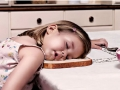 Kids fall asleep anywhere