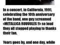 True story about Metallica