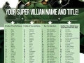 Super villain name & title