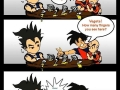 Vegeta is drunk