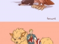 Avengers with Pokemons