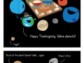 A solar system thanksgiving