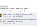 Chuck Norris on Facebook