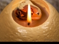 Dinosaur egg candle