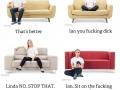 Sofa sitting positions