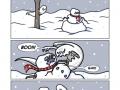 Ghost vs snowman