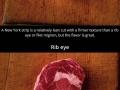 Different types of steak