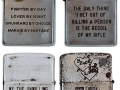 Soldiers engraved lighters