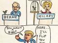 Bernie vs Hillary vs Trump on birds