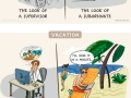 Illustrations that describe work life