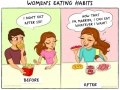 Life before and after marriage