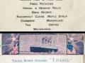 Titanic food menus for 1st, 2nd & 3rd class passengers