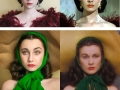 17 y/o transforms herself into famous vintage characters