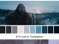 Colour palettes compiled from movie scenes