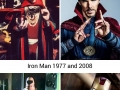 On screen superheroes then and now