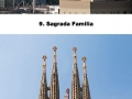 Famous landmarks zoomed out