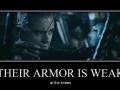 Their armour is weak