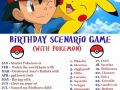 Pokemon birthday scenario game