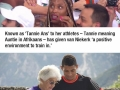The new 400m world record holder is trained by a 74 y/o bada** granny