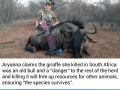 12 y/o girl who shoots wild animals says she will never stop