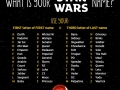 What is your Star Wars name?