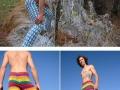 Men�s fashion crocheted pants