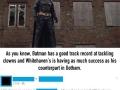 Batman is now chasing off killer clowns in UK