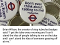 Man tries to get Londoners to chat with strangers on public transport