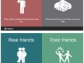 Ways to differentiate real friends and toxic friends