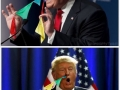 Trump's nose flags