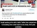 Trump peeks at Melania's ballot
