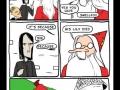 Dumbledore poking fun at Snape