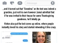 Grandma accidentally texts teen about her Thanksgiving plans
