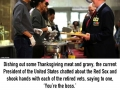 Obamas spend Thanksgiving serving food to army veterans