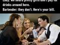 Bartender being a savage