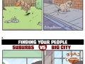 Living in the suburbs vs the big city