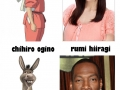 See the real face behind animation characters