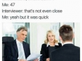 At a job interview