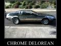 Chrome Delorean