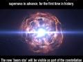 Two stars will collide in massive supernova