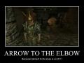 Arrow to the..