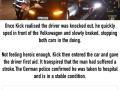 Driver sacrifices his Tesla to save another man's life