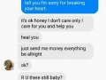 This guy nails Adele's lyrics in fb conversation