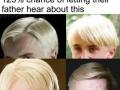 He has a weird haircut