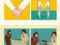 A compilation of Joan Cornella comics