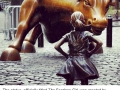 Statue of defiant girl now confronts famous �Charging Bull� on Wall Street