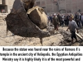3000 year old Pharaoh Ramses II statue found in Cairo slum