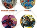The many costumes of Spider Man