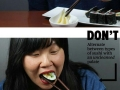 How to (not) eat sushi